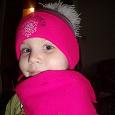 Отдается в дар Шапочка+шарфик для девочки (розовая)