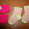 Отдается в дар Детское: Шапка на 1-1,5; пинетки на 0-1, носки на 0-1