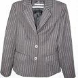 Отдается в дар Пиджак 46 размер, полосатый серый.