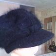 Отдается в дар Чёрная шляпка из ангорки