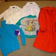 Отдается в дар плащик, блузки, свитер для девочки 10-11 лет