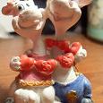 Отдается в дар Гипсовая фигурка «Влюбленные коровы»