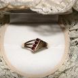 Отдается в дар Кольцо — серебро с гранатами