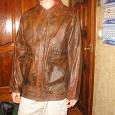 Отдается в дар куртка кожаная мужская. размер 46