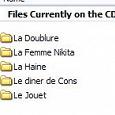 Отдается в дар фильмы на французском (DVD диск)