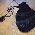 Отдается в дар Черная бархатная сумка