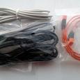 Отдается в дар 3,5 мм. кабель, телефонный шнур и sata шлейф