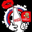 Отдается в дар Футболка Coca-Cola Euro-2012