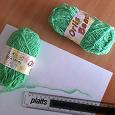 Отдается в дар Нитки букле шерсть с акрилом ярко-салатовые