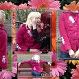 Отдается в дар Розовое пальто с вышивкой