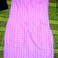 Отдается в дар Платье 46-48р. из красивой розовой ткани с бархатистыми кругами