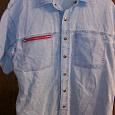 Отдается в дар Рубашка мужская джинсовая 50-52 размер
