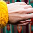 Отдается в дар Вязанный браслет ручной работы