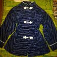 Отдается в дар Блузка для девочки 8-10 лет, с декорированными петлями-2 снимка