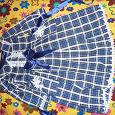 Отдается в дар Платье для девочки в клеточку на 5-6 лет