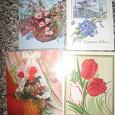 Отдается в дар открытки «Цветы» СССР