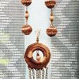 Отдается в дар Комплект украшений ручной работы: сережки + кулон в этностиле