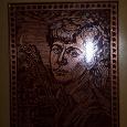 Отдается в дар Портрет Есенина на металле