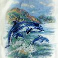 Отдается в дар Схема для вышивки крестиком «Дельфины»
