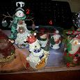Отдается в дар Сувениры новогодние: снеговики, Дед Мороз, овечка