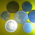Отдается в дар Монеты Бельгии, Италии, Франции