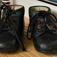 Отдается в дар ботиночки демисезонные кожа, 6-12мес, размер 19