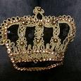 Отдается в дар Нашивка золотая корона из паиеток и черепа со звездами
