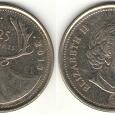 Отдается в дар 25 центов 2013 Канада, Канадский олень