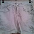 Отдается в дар мини-юбка белая джинсовая 40 европ. наш 46р дл.39см