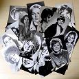 Отдается в дар 33 открытки с актерами и актрисами
