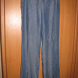 Отдается в дар женские летние джинсы-брюки, большой размер