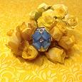 Отдается в дар Кольцо-часы в виде синего цветка