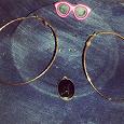 Отдается в дар Серьги, подвеска и розовые очки.