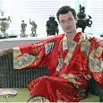 Отдается в дар Шелковый халат-кимоно