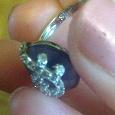 Отдается в дар серебряное кольцо 925 пр с сапфиром и фианитами
