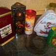 Отдается в дар Жестяные коробки от чая