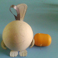Отдается в дар Недоделаный заяц (шар-папье)