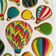 Отдается в дар Набор стикеров в виде воздушных шаров.