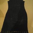 Отдается в дар платье вязаное темно-синее 46-48