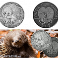 Отдается в дар Копия монеты Папуа — Новая Гвинея 5 кина. Ехидна