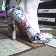 Отдается в дар туфли кожанные на высоком каблуке 37 размер