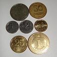 Отдается в дар набор из 7 украинских монет