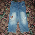 Отдается в дар Тёплые детские джинсы