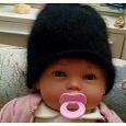 Отдается в дар Детская вязаная шапочка на девочку)