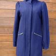 Отдается в дар H&M р.XS-S (34-36) Шерстяное женское пальто синее