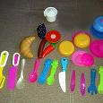 Отдается в дар детская посудка + фрукты, овощи