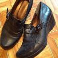 Отдается в дар Туфли черные, кожа