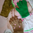 Отдается в дар Тёплые перчатки, женские размер 7.