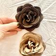 Отдается в дар Замшевые броши-цветы