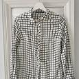 Отдается в дар Рубашка блузка женская черно-белая в клетку